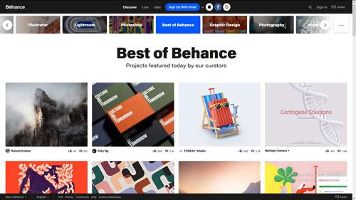 اشتراک نمونه کار در Behance