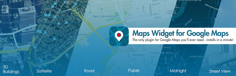 افزونه Maps Widget for Google Maps